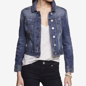 Express Shrunken Dark Blue Jean Jacket